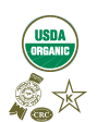 USDA Organic: Beis Din of Crown Heights Vaad Hakashrus: The Union of Orthodox Jewish Congregations (OU) seals